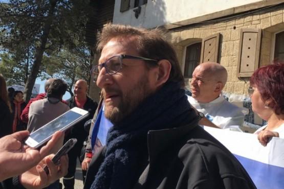 Santiago Goodman, referente de ATECh, a la salida del juzgado.