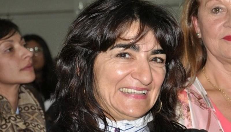 La candidata a intendente de Río Turbio, Nancy Hernández.