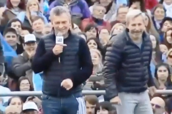 El Presidente Macri en Paraná (captura de video).