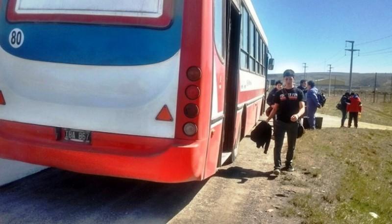 Desperfecto que sufrió una unidad. (Foto Patagonia Nexo)