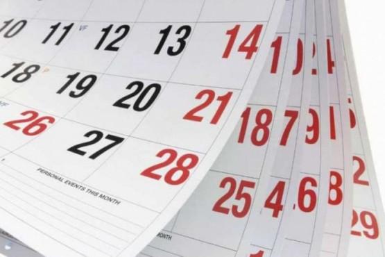 El calendario para el 2020.