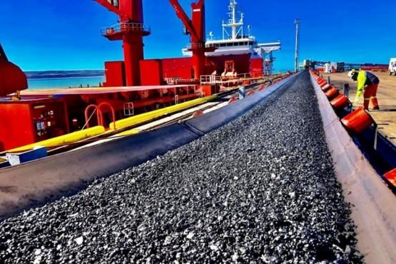 Carbón extraído por la empresa.