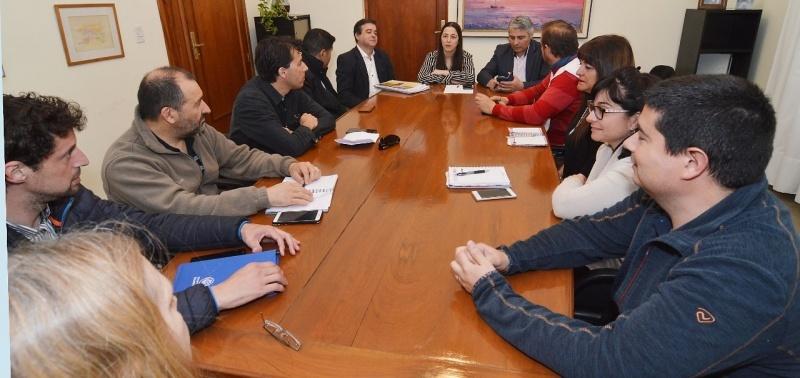 Reunión realizada con los gremios.