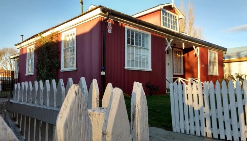 Casa típica de la Patagonia, en Río Gallegos.