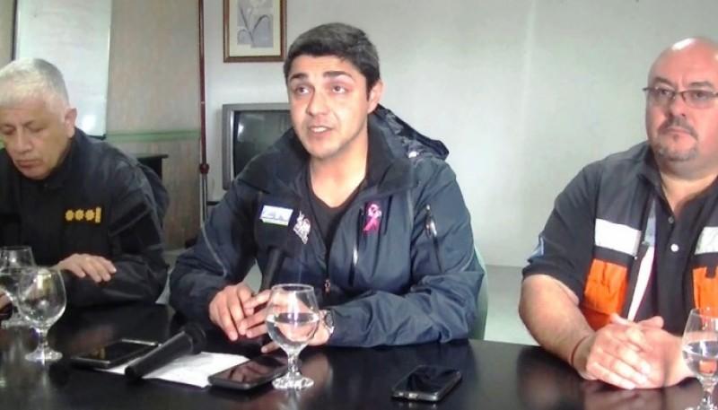 Conferencia de prensa realizada en Las Heras.