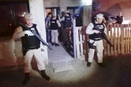 Diez detenidos y secuestro de cocaína y marihuana en cuatro allanamientos