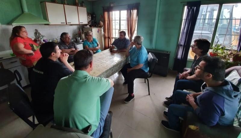 Reunión del candidato Santiago Gómez.