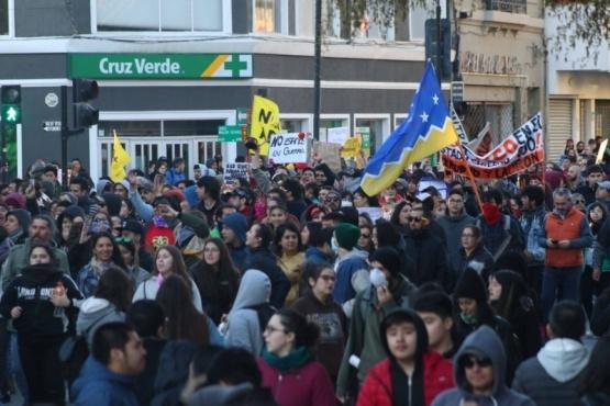 Manifestación pacífica en Punta Arenas.