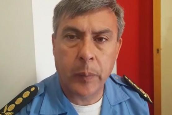 Jefe de la unidad regional de policía, Ricardo Cerda.