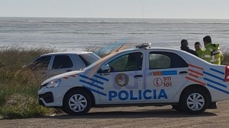 La policía arribó al lugar.