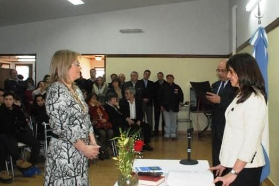 Claudia Cano, cuando juró como jueza en lo Civil en 2014.