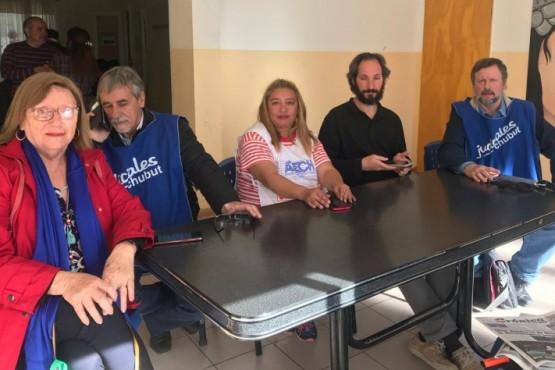 Conferencia de prensa de la Mesa de Unidad Sindical.