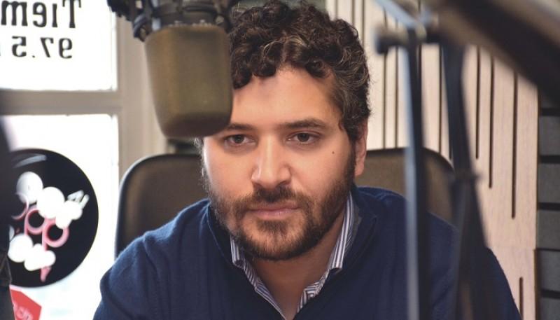El candidato a concejal de Río Gallegos, Adriel Ramos