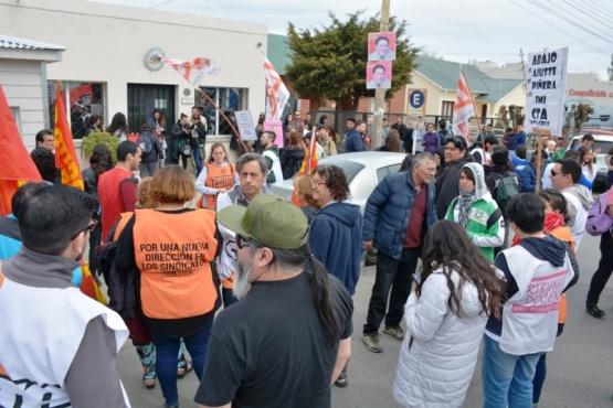 La MUS se manifestó en el marco del Día Mundial de Apoyo a Chile. (C. Robledo)