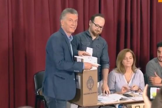El voto de Macri.
