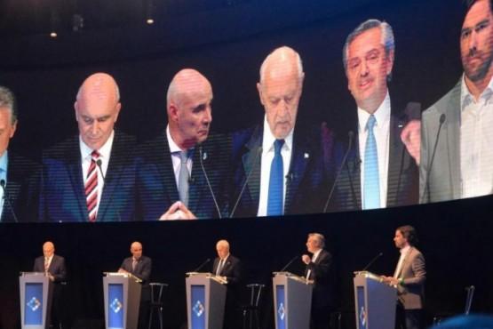 Candidatos en el último debate presidencial.