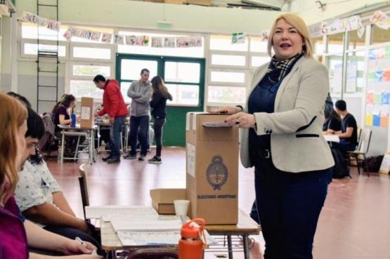 El voto de la actual gobernadora en Ushuaia.