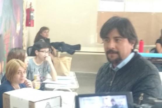 El candidato a intendente, Ariel Varela.
