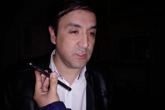 Pablo Grasso en el móvil de Tiempo FM.