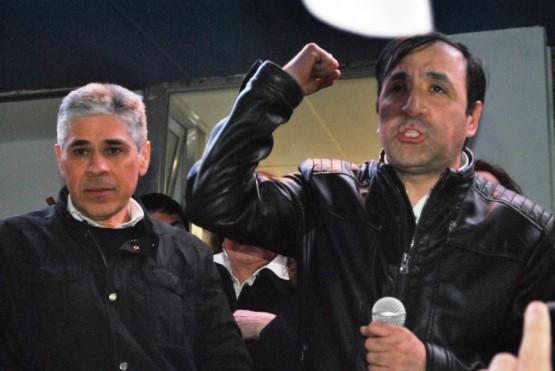Pablo Grasso hablando a la militancia (Foto: Juan C. Cattaneo).