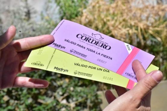 Las entradas para la fiesta.