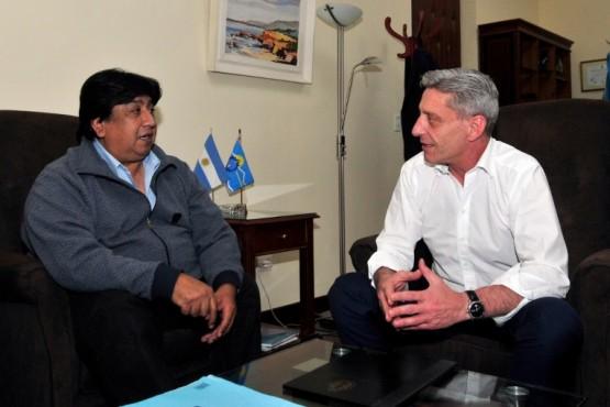 El Intendente de José de san Martín con el gobernador Arcioni.