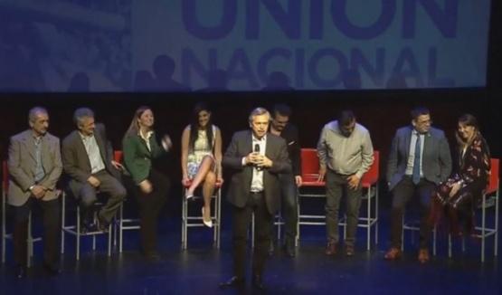 Alberto Fernández encabezó el acto.