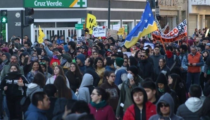 El reclamo en Punta Arenas. (Foto archivo)