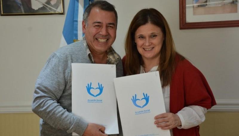 Convenio entre Hispano y el Gobierno provincial.