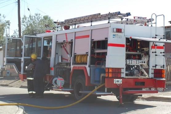 Dotación de bomberos.