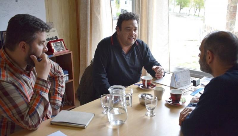 Reunión de Mirvois y Ticó con el ministro Basanta.
