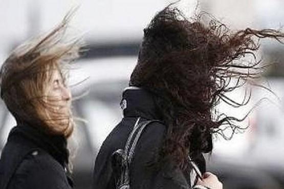 La intensidad de los vientos en Chubut.