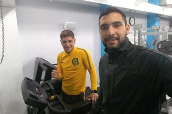 Mauro y Leo Gil entrenando.