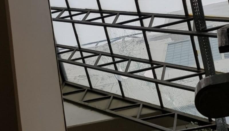 Así quedó el techo.