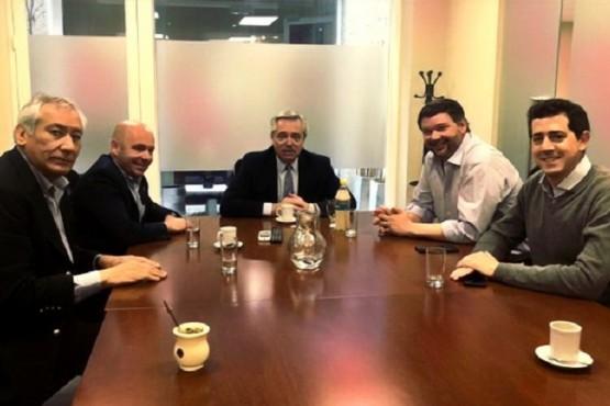 Reunión de octubre, donde estuvo Alberto Fernández y Wado de Pedro.