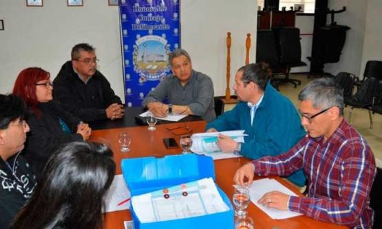 Reunión en el Concejo Deliberante.