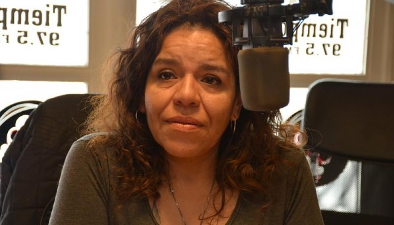 Roxana Rodríguez en Tiempo FM (foto C.R.)