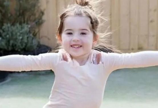 La niña de 3 años fallecida. Imagen: Gentileza The Sun