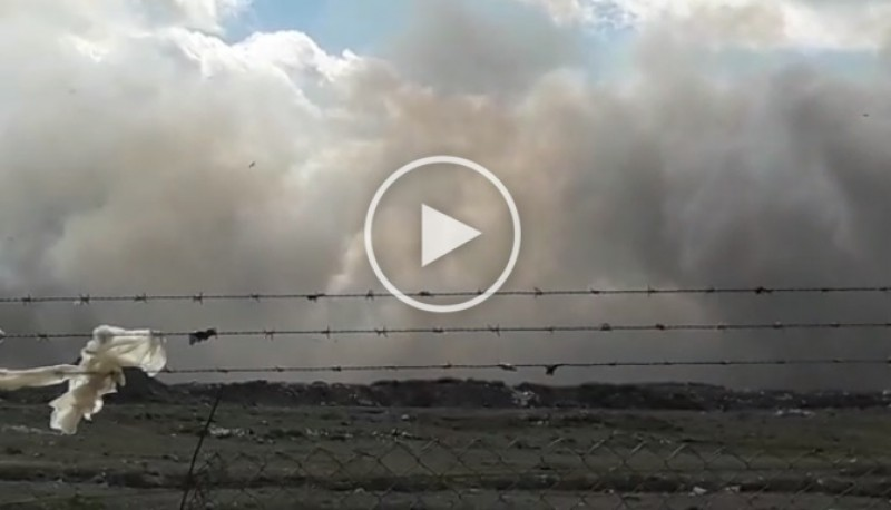 Humo en el Vaciadero local (Captura de video).