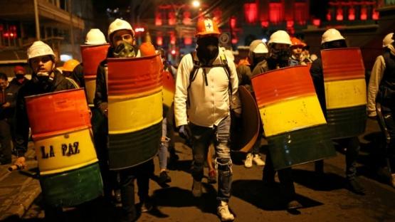 Protestas en las calles de Bolivia.