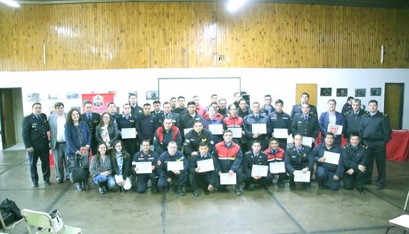 Todos los participantes del primer curso de investigación pericial de incendios.
