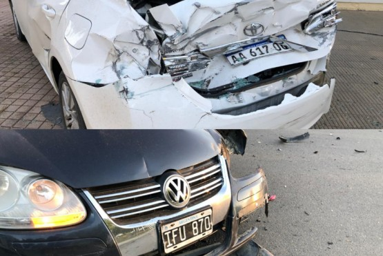 Autos involucrados en la colisión.