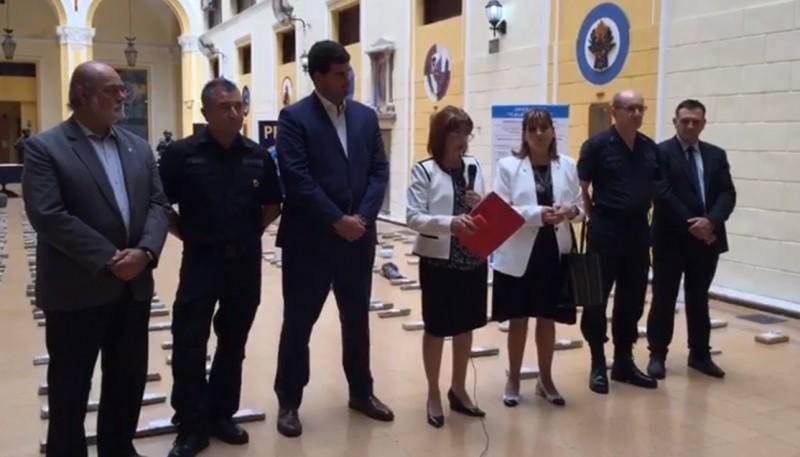 Patricia Bullrich en conferencia de prensa (Captura video).