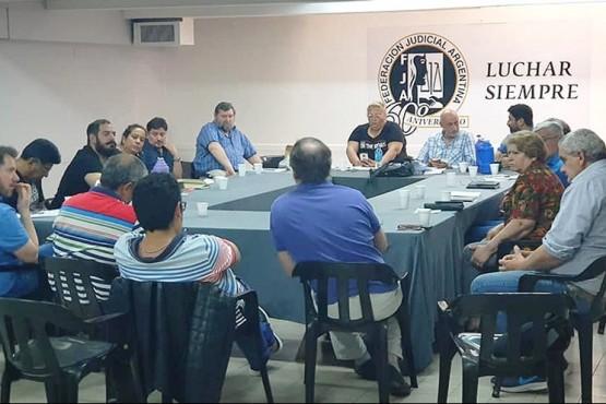 Plenario convocado por la Federación Judicial Argentina.