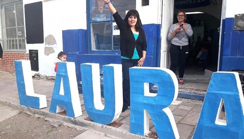 La candidata Laura Bilbao.
