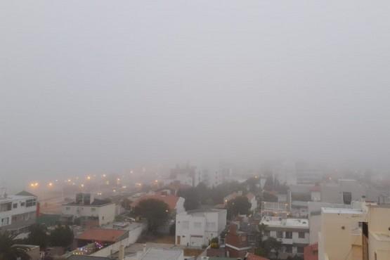Niebla en Puerto Madryn y otras ciudades de Chubut.