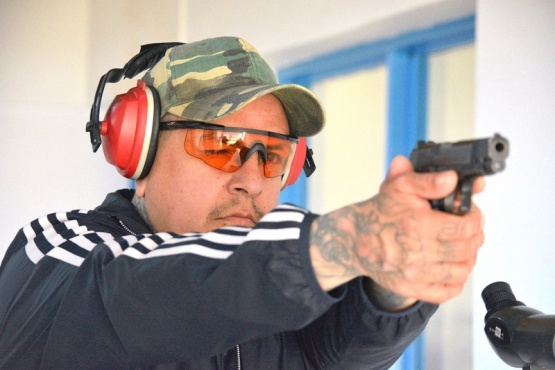 Gerardo Salas en acción.