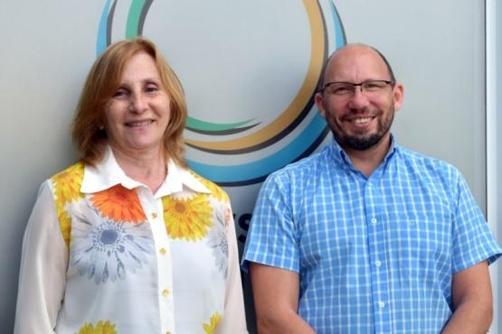 Graciela Di Perna y Fernando Menchi, rectora y vicerrector respectivamente