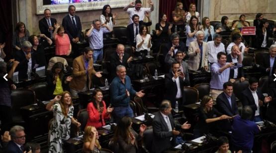 Sesión en el Congreso.