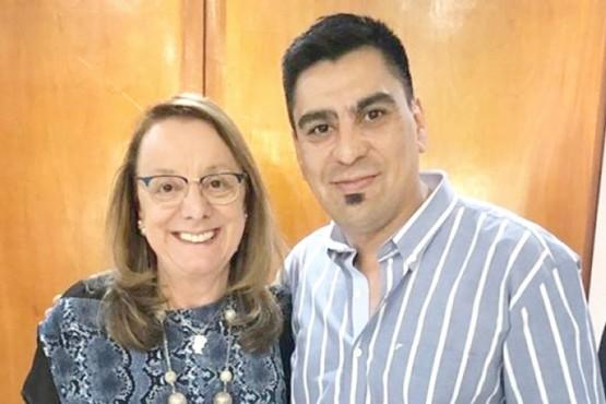 Alicia Kirchner y Fernando Españón se reunieron ayer.